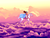 Prince and Princess on Flying Horse