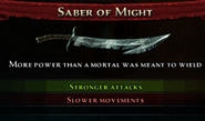Saber of Might