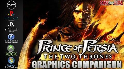 Prince of Persia Two Thrones Graphics Comparison ( PSP , PS2 , PS3 , Gamecube , XBOX , PC )