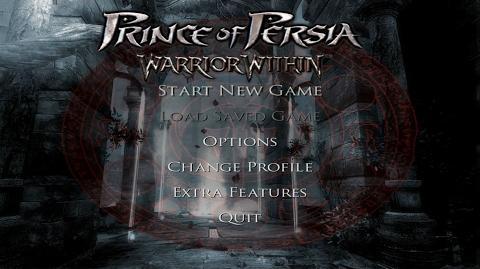 Prince of Persia Warrior Within (2004) - main menu ULTRA HD