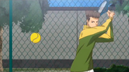The only time you actually see Koishikawa hit a ball in the WHOLE series