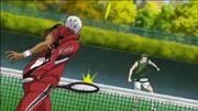 Tanegashima in action against Akutsu