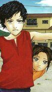 A Young chitose and his sister miyuki
