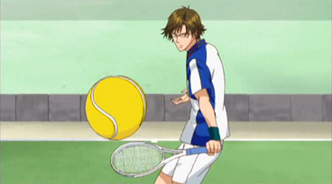 Tezuka about to do a drop shot
