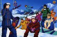 The Hyotei team Skiing