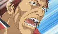 Oni's passionately angry expression