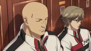 Ishida and Shiraishi in U-17 Camp uniform in the locker room
