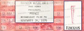 Prince tour ticket