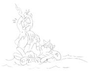 Shining Chrysalis swimmig