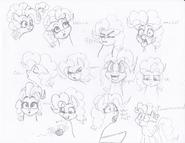 Many pinkie faces