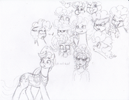Many ponk faces