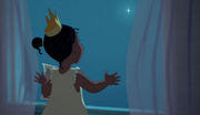 Tiana watching the star, Evangeline