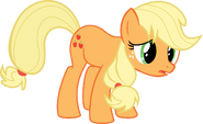 My little pony vector sad applejack by krusiu42-d5owbik
