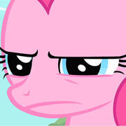 Pinkie Pie with a very serious face