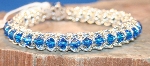 File:Spine Of The Centiped Chain Maille Bracelet In Sterling Silver.jpg