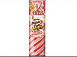 Pringles white chocolate peppermint
