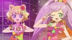 Laala and Mirei pose