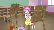 Laala eating apple