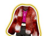 High Class Fur Red Coord