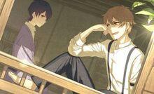 Mitsuru asking Naoya if life is boring