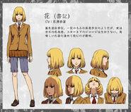 Hana anime design