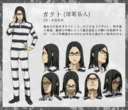 Gakuto anime design