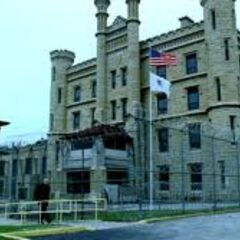 The front of the maximum security prison