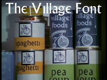 Village font tins