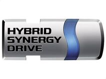 Hybrid synergy drive emblem