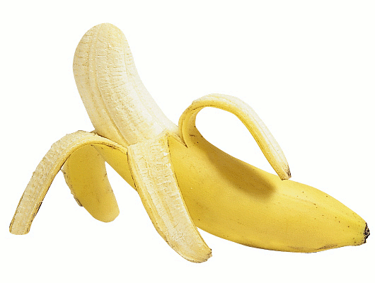 Banana peeled