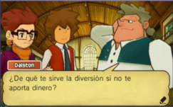 Alphonse hablando con Randall y Hershel de joven