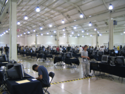 IOI 2006 competition room