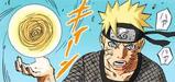 Naruto tworzy jedną ręką Rasengana