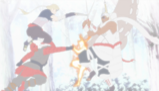 Naruto i B ścierają się z ożywionymi jinchūriki