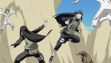 Hinata i Neji ochraniają siebie nawzajem podczas wojny