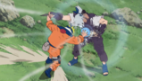 Naruto po raz pierwszy używa Rasengana na Kabuto