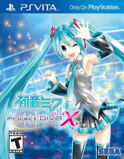 Hatsune Miku Project DIVA X (PS Vita) NA box art