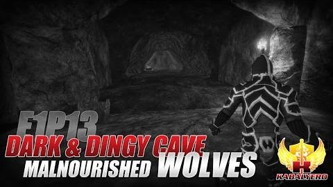 Project Gorgon Pre-Alpha Gameplay E1P13 Dark & Dingy Cave ★ Malnourished Wolves
