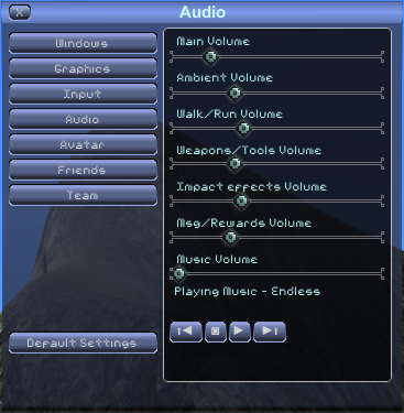 Options audio