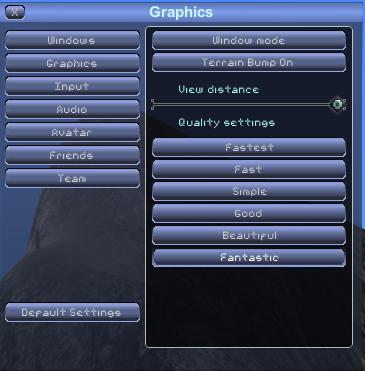 Options graphics