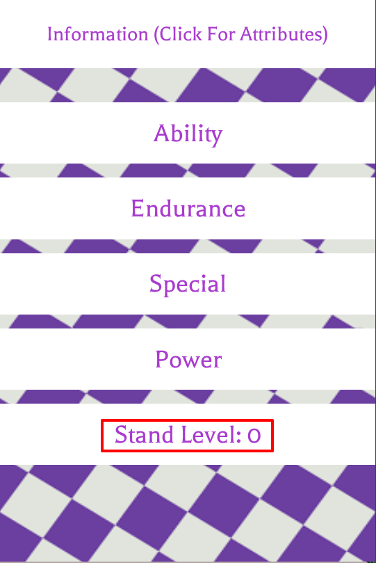 Stand Level | Project Jojo Wiki | FANDOM powered by Wikia