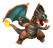 Art del traje alternativo de Charizard (armadura)