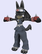 Pose de referencia de Lucario con coloración beta
