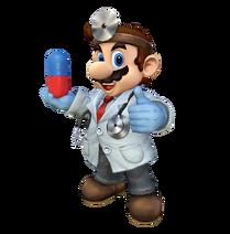 Art del traje alternativo de Mario (Dr. Mario)