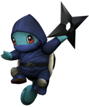 Art del traje alternativo de Squirtle (ninja)