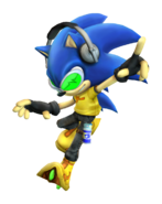 Art del traje alternativo de Sonic (Jet Set)