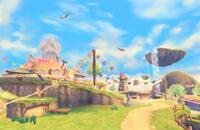 Vista general de Altárea en The Legend of Zelda Skyward Sword