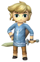 Art del traje alternativo de Toon Link (pijama)