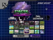 Pantalla de selección de escenarios adaptada para torneos Project M 3.5