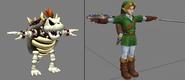 Pose de referencia de Bowser y Link
